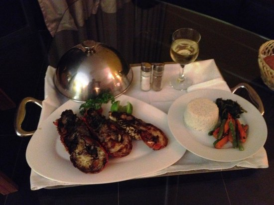 Villa madiba hotel: Delicious Lobster