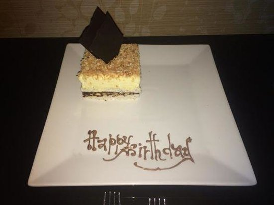 InterContinental Amman: My free birthday cake thanks to the spa staff!