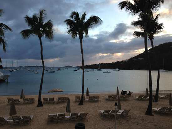The Westin St. John Resort Villas: View from a 2nd story beachside room