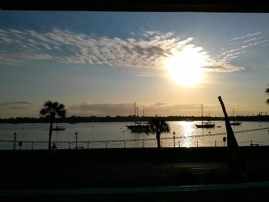 Casablanca Inn on the Bay: This is our amazing view from our private balcony at casablanca inn!