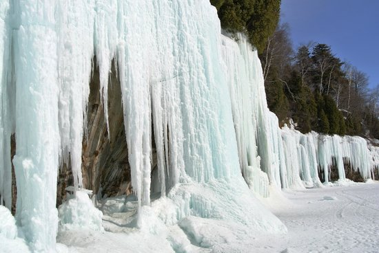 Ice Cave at Grand Island