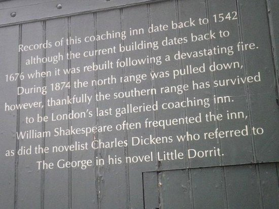 The George: sign on gate