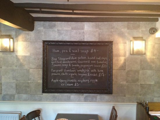 The Red Lion: Specials board
