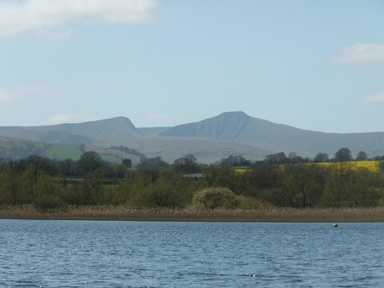 Llangorse Lake: Pen-Y-Fan from the lake