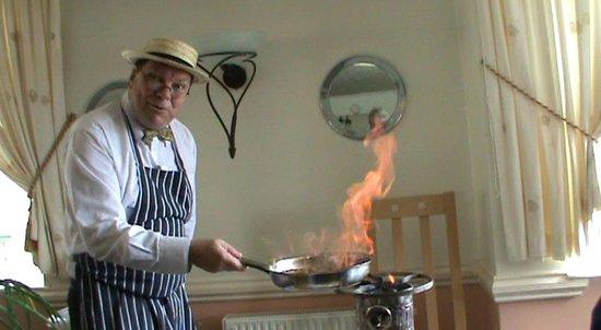 Marina Restaurant : More flames
