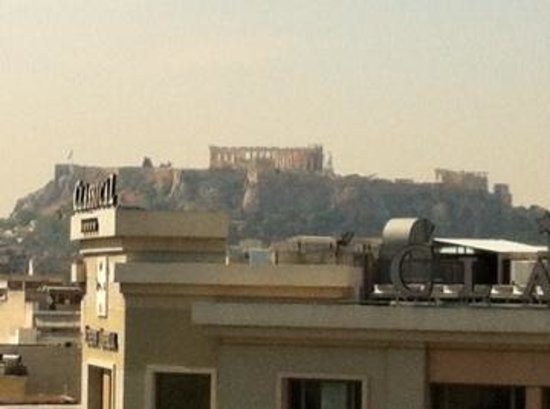 Dorian Inn Hotel Athens: view from roof top