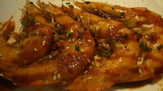 Restaurante Tatami: langostinos a la plancha