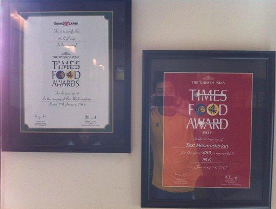 96 K : Acceptance & Honours