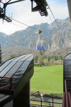 Untersberg : de gondel, hier was het nog groen