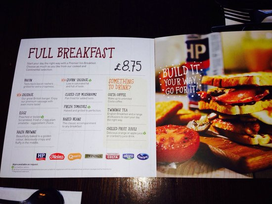 table table parc britannia new breakfast menu layout all you can eat freshly