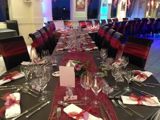 Restaurant Frantony 2 : table du mariage