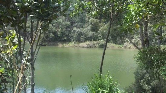Represa de Piedras Blancas en parque ecológico.