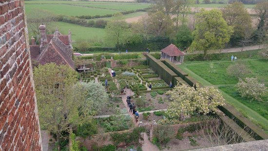 Sissinghurst Castle Garden: View from the top of the castle.