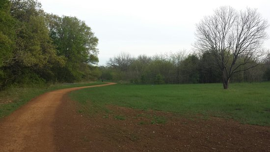 Elmer W. Oliver Park: One of several trails.