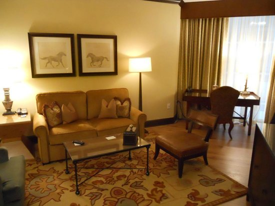 Omni Austin Hotel Downtown : Sitting area in Suite
