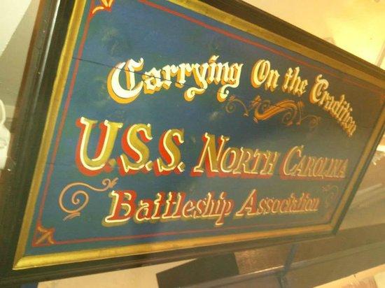 Battleship NORTH CAROLINA: Sign