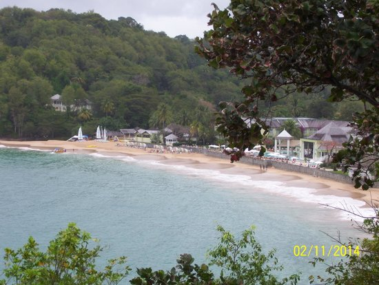 Sandals Regency La Toc: A lovely view from Sunset Bluff.