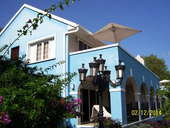Sandals Regency La Toc: View of our building in the Piton'sVillage