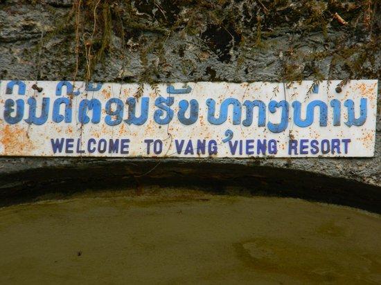 Tham Chang Cave : Il bemvenuto all'ingresso della grotta