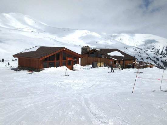 Loveland Ski Area: the new erstrooms and warming hut complete with food and drink well up the mountains