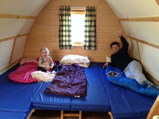 Hilly Cow Wigwams: Inside of the wigwam