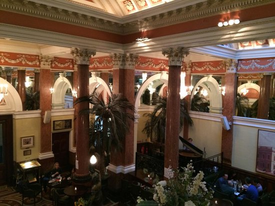 The Bank on College Green: View downstairs from balcony upstairs, notice the pianist
