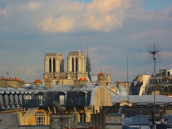 Left Bank - St Germain Des Pres B&B : Zoomed view from the room