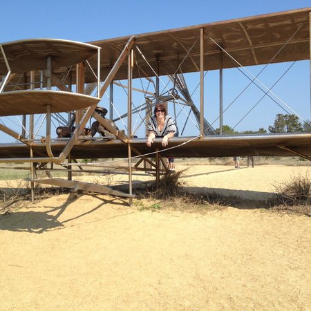Wright Brothers National Memorial: They said it was built for climbing :)