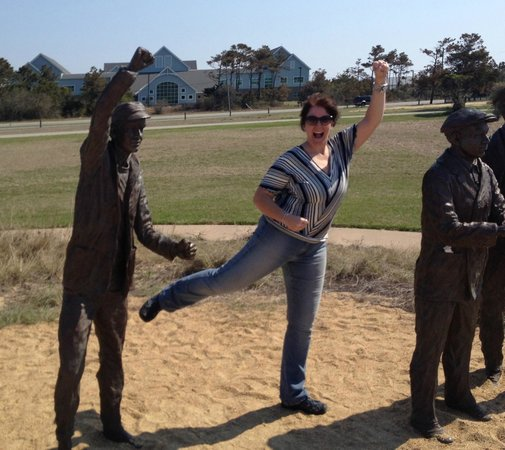 Wright Brothers National Memorial: I loved this part :)