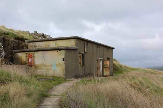 Godley Head: Gun emplacement building