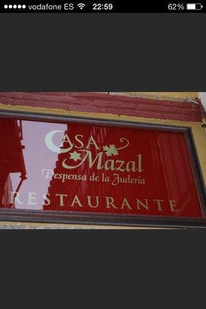 Casa Mazal - Juderia : Insegna