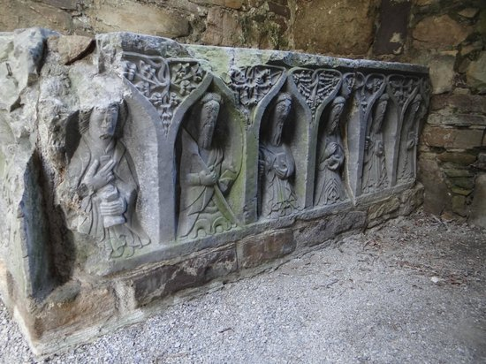 Jerpoint Abbey: Take the tour to learn who these guys are and how each carving gives a clue to identify them!