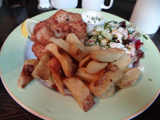 The Gingerman: Fish and Chips - really unique tartar sauce, wish I knew what was in it!