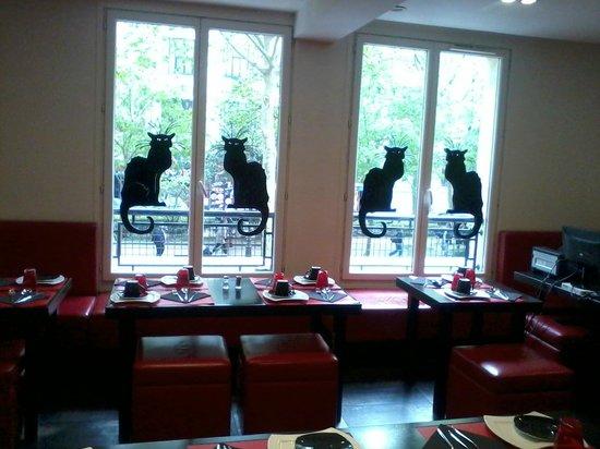 Hotel le Chat Noir: Stanza colazione