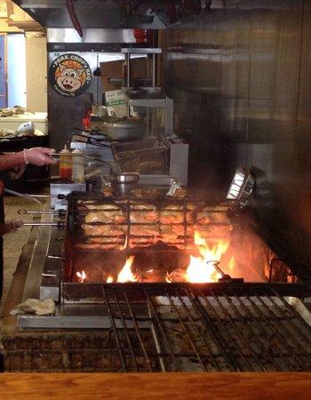 Pork Chop's BBQ: BBQ pit