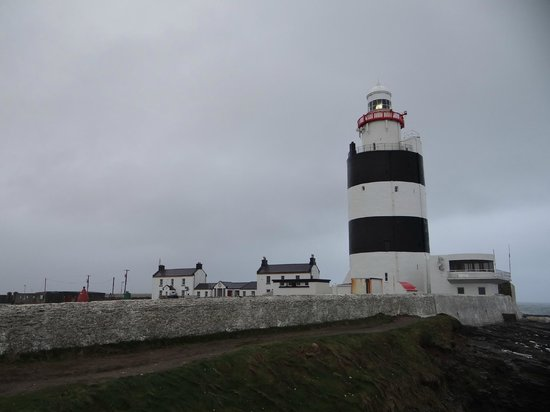 Hook Lighthouse: Waves crash in all around you
