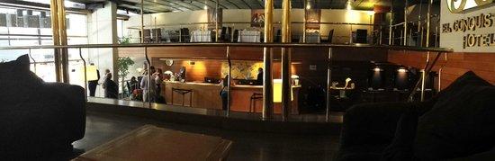 El Conquistador Hotel: lobby from second floor area