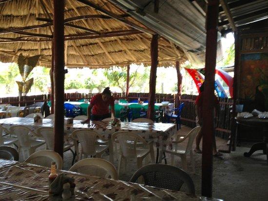 Cave Tubing with Vitalino Reyes: the restaurant/bathroom break