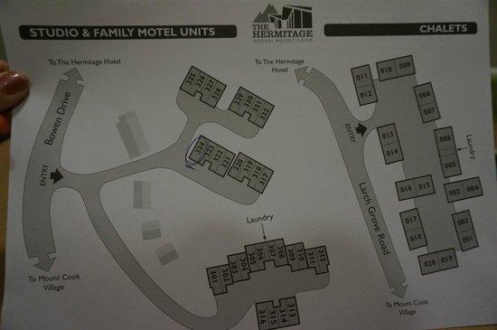 The Hermitage Hotel: Motelの部屋配置図
