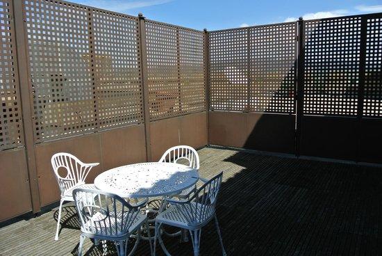 Parador de Olite : Otra vista de la terraza