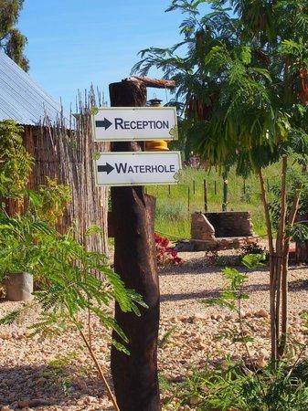 UrbanCamp.net - Camping, Leisure, Windhoek: clear signposting