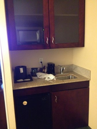 SpringHill Suites Annapolis: Lots of food storage and a small fridge and microwave.