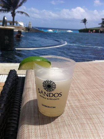 Sandos Cancun Luxury Resort: un daikiri de limon !
