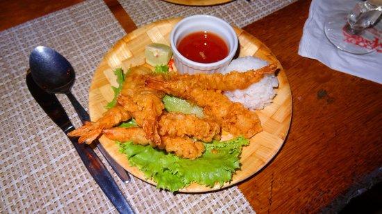 Bloody Mary's : Shrimp tempura and sticky rice!