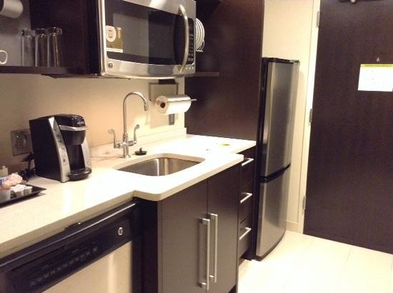 Home2 Suites by Hilton Philadelphia - Convention Center, PA: Kitchen. No burner or oven.