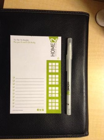 Home2 Suites by Hilton Philadelphia - Convention Center, PA : Designer took care w small details, like this notepad.