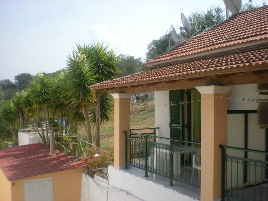 Makris Apartments: View from back of the apartment (Rm 9)