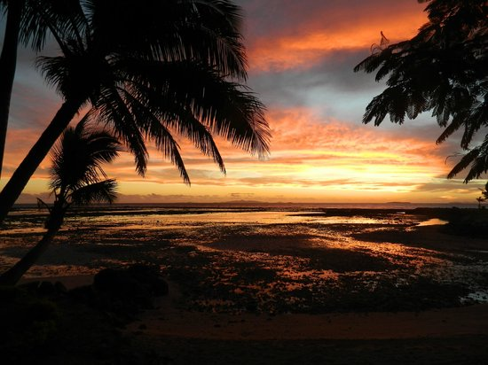 Lautoka, Fiyi: view from room on sunset