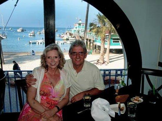 Steve's Steakhouse: enjoying the view and dinner