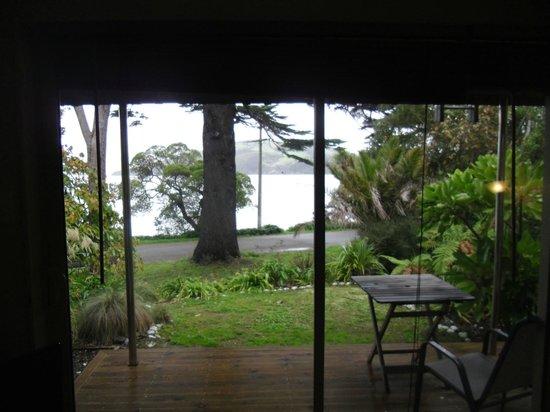 Akaroa on the Beach: view from Beachside living room
